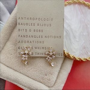 NWT Anthropologie Crystal Drop Earrings